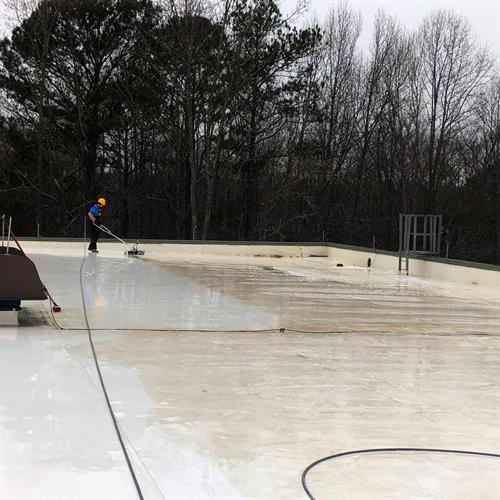 Commercial Roof Clean - Community Center in Clayton, NC