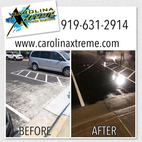 Concrete Cleaning - Removing Concrete Slurry on Asphalt in Fuquay-Varina, NC