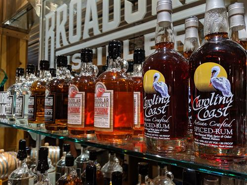 Visit Broadslab Distillery on the Beer, Wine and Shine Trail.
