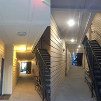 Before and After - LED Conversion for Apartment Breezeways in Franklin, TN