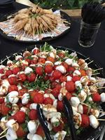 Tomato Caprese Skewers...did someone say homemade cheese?