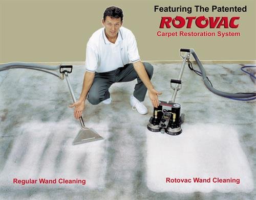 Rotovac Hot Water Extraction Deep Carpet Cleaning