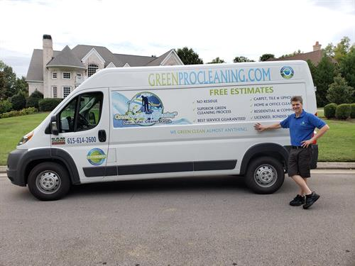 Our owner and Carpet Cleaning Van