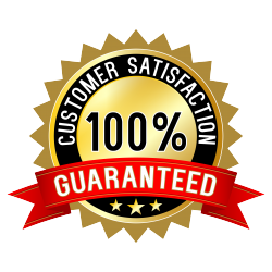 Our services are 100% Satisfaction Guaranteed!
