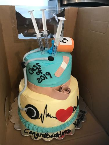 "graduation ""Medic"" cake"