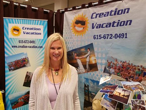 Creation Vacation participates in the Nashville Pink Bridal Show each January and August.