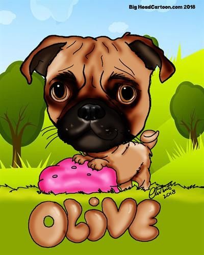 Digital Pet Caricatures drawn from Photos