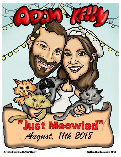 Custom Wedding Digital Caricature