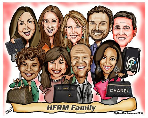 Digital Corporate Caricature (Group)