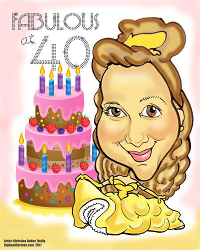 Digital Caricature (Birthday Theme)