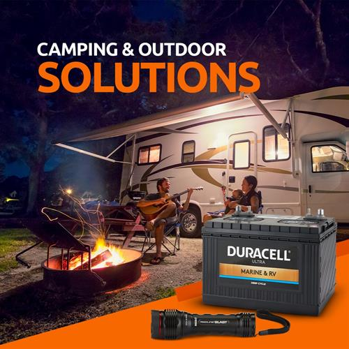 Batteries and flashlights for your camping needs