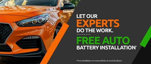Free car and truck battery testing and instalation