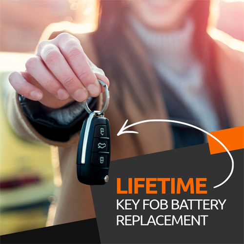 Lifetime battery replacement for key fobs and watches