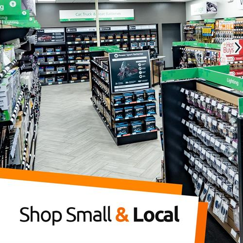 Shop small and local for all your battery and lighting needs