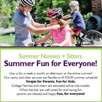 Summer Nannies and Sitters