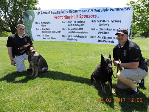 Sparta Police Department K-9 Unit Golf Fundraiser June 2017