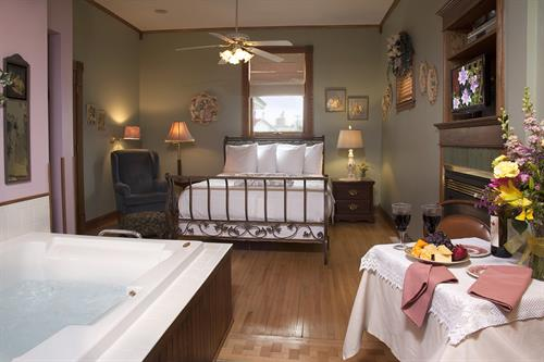 Victorianne Room in Guest House Building. Rate starts at $189 with breakfast. Visit our web site - westbyhouse.comy