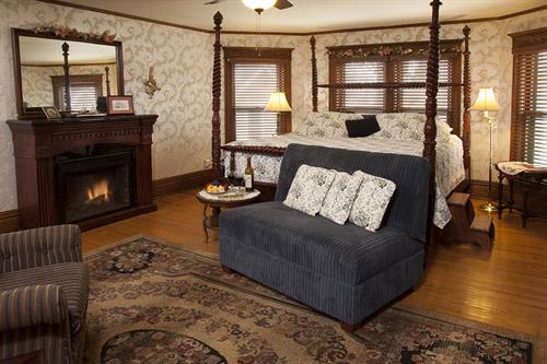 Westby Room with King Bed. Second floor of Main House. Rate starts at $169 with breakfast.