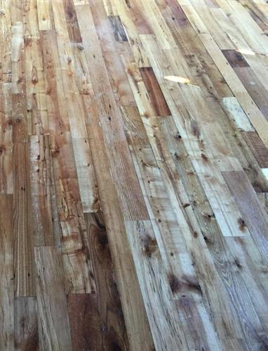"Mixed Species ""Center Cut"" Flooring Installed as a Dance Floor at an Events Barn"