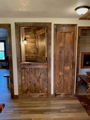 Rustic Dutch Door and Closet Door made with Naily Wood