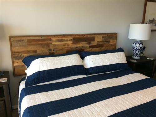 Skip Planed Headboard in a Condo at South Padre Island, Texas