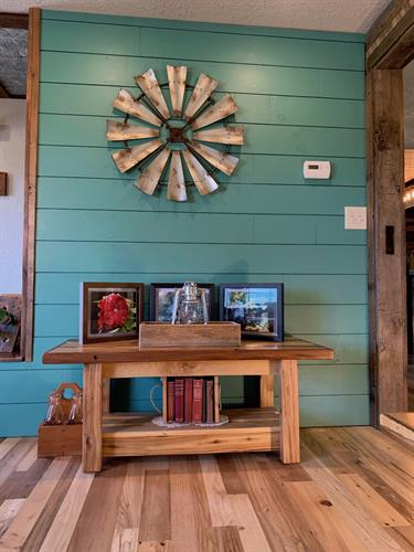 New Pine Shiplap Painted Teal