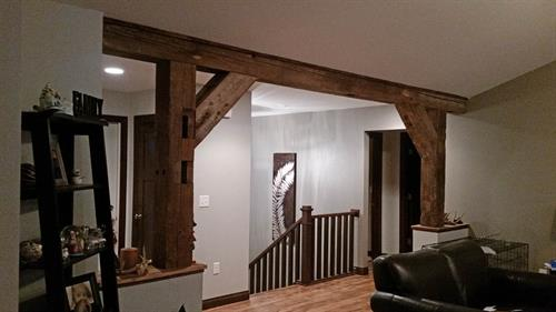 Barn Beams Used in a Home in Holmen, WI
