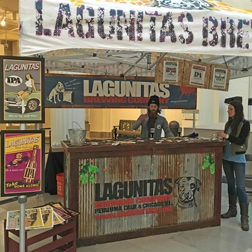 Corrugated Tin & Barn Wood for Lagunitas Portable Bar in Chicago, IL