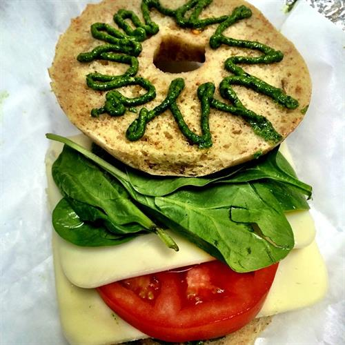 Caprese Lunch Bagel