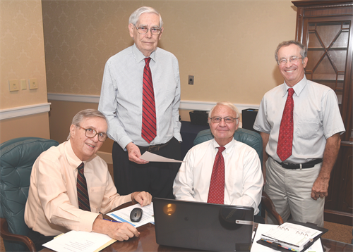 SCORE Mentors in Brunswick, L-R Jay Martin, Gary Johnson, Al Suto and Ber Villemarie