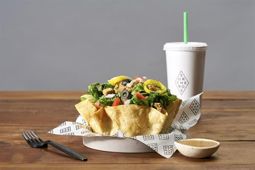 Grilled Salad - Served with or without our fresh taco salad bowl and your favorite greens