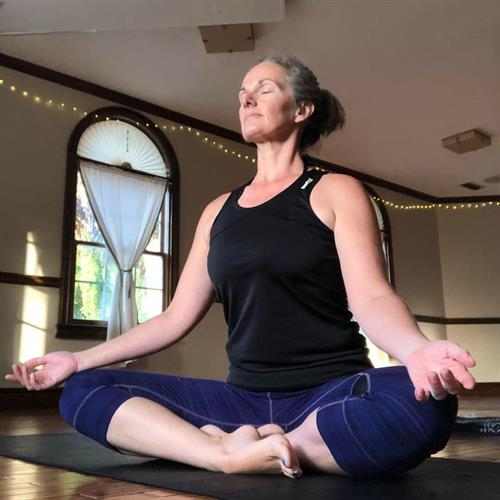 Yoga Instructor Dawn Jex, classes included in membership