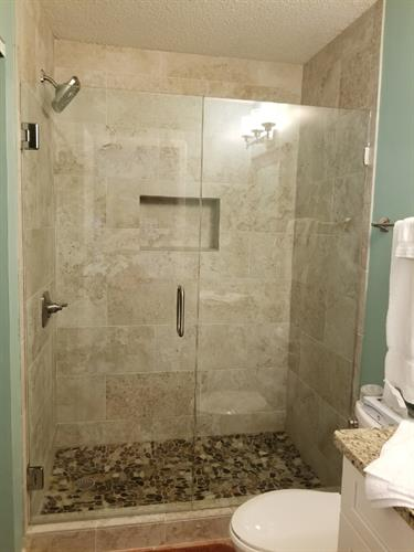 Walk in shower in small condo