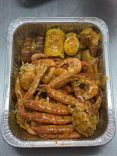 Snow Crab & Boiled Shrimp Plate