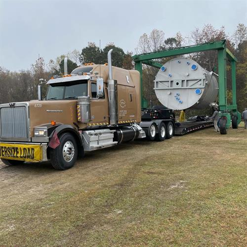 7 Axle Removable Goose Neck hauling fabricated tank