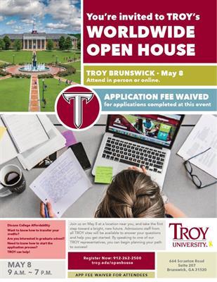 Troy University Online >> News Release 4 13 2018 Troy University Brunswick Site