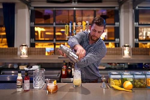 Drinks at Eighty Ocean Kitchen and Bar within the Jekyll Ocean Club