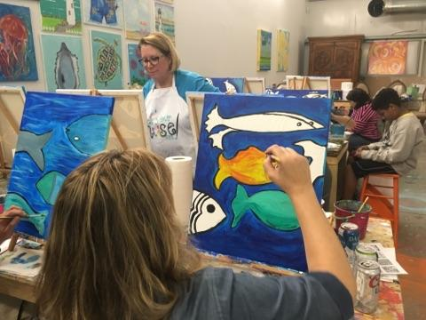 Paint parties are held year round. Come with friends or come alone and make new friends!