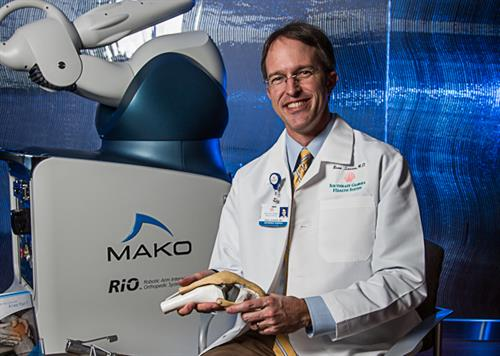 Beau Sasser, M.D., and Mako Robotic-Arm Assisted Surgery technology