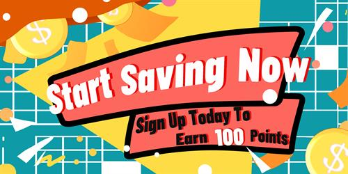 Join today for 100 Free Points!