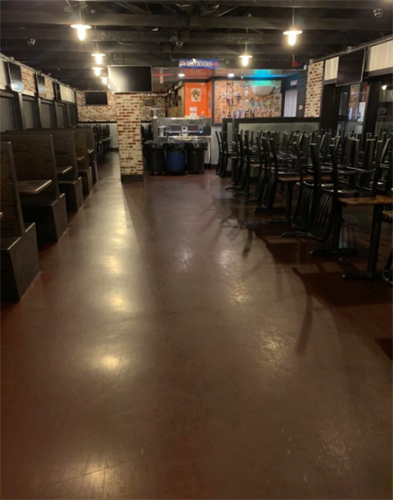 The Boiling Crab floor degreasing