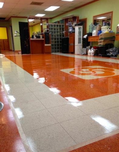 Shiny floors!