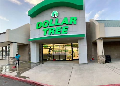 New Dollar Tree cleaned before opening