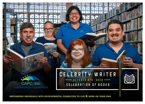 Celebrity Waiter 2019 Save the Date- Celebration of Books