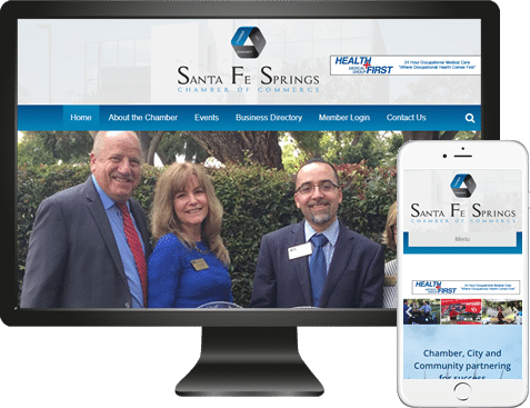 Screenshot of the SFSCC Web Site and Mobile App