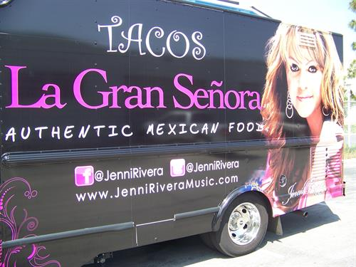 Catering truck wrap