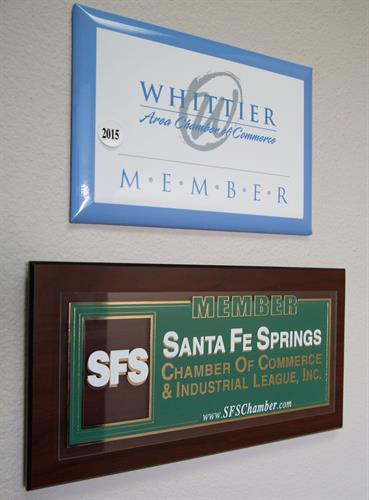 SFS and Whittier Chamber Members.