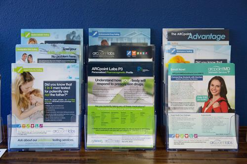 Brochures of the services we offer.