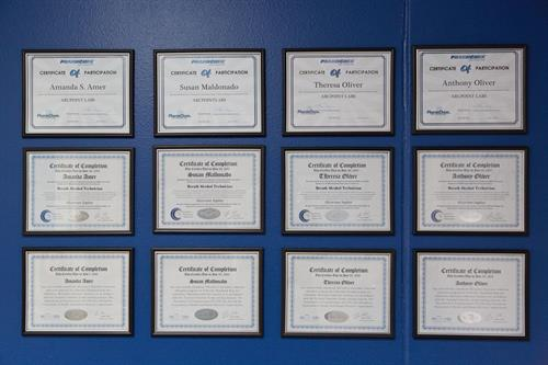 Certifications.