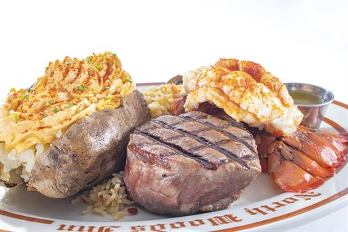 American cuisine surf and turf